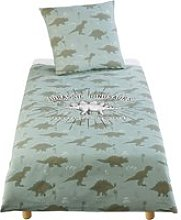 Children's Khaki Green Print Cotton Bedding