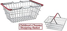 Children's Kids Mini Chrome Shopping Basket