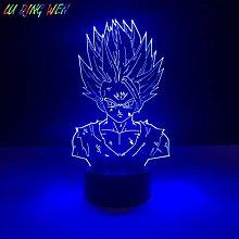 Children's Led Night Lamp Gohan Figure