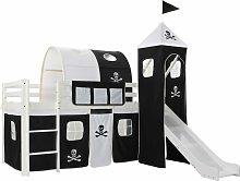 Children's Loft Bed Frame with Slide & Ladder