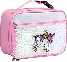 Children's Lunch Bag,Sequin Insulated Food