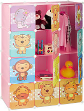 Children's Modular Shelf, Cute Animal Prints,