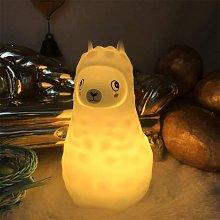 Children's Night Light Alpaca Lamp Soft