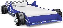 Children's Race Car Bed 90x200 cm Blue - Blue