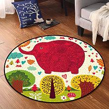 Children's round rug printer bedroom floor