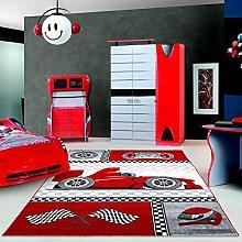 Children's Rug Speedy Red Formula 1Car
