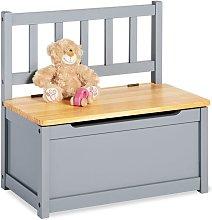 Children's Storage Bench 'Fenna' Grey - Pinolino