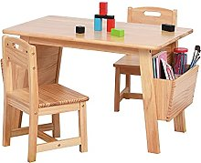 Children's Table and Chair Set, Solid Wood
