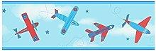 Children's Wallpaper Border Aeroplane Aircraft