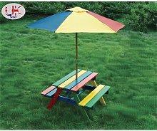 Children's Wooden Rainbow 2 in 1 Kids Picnic