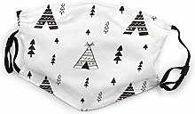 Children Face Mask,Tipi Tent Uses Baby Indian