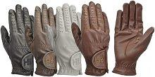 Children/Kids Leather Riding Gloves (L) (White) -