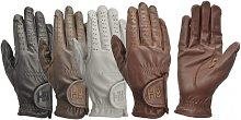 Children/Kids Leather Riding Gloves (M) (White) -