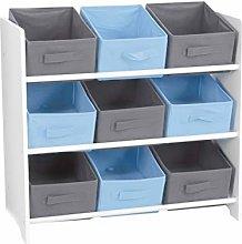Children's 3 Tier Storage Unit Wooden White Toy
