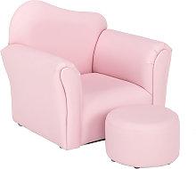 Children Single Sofa Bent Back Pink QWGT2883PK