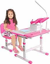 Children Study Desk And Chair Set Pink Desk Set Up