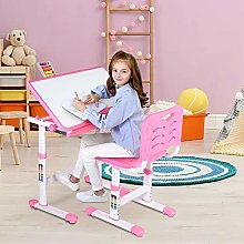 Children Table and Chair Set, Kids Study Desk