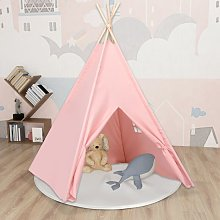 Children Teepee Tent with Bag Peach Skin Pink
