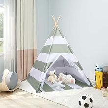 Children Teepee Tent with Bag Peach Skin Stripe
