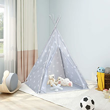Children Teepee Tent with Bag Polyester Grey