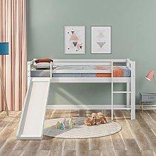 Childrens Cabin Bed Frame Kids Wooden Mid-Sleeper