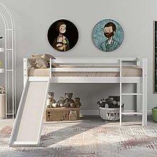 Childrens Cabin Bed Frame with Slide Ladder, Bunk