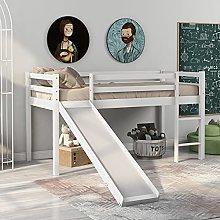 Childrens Cabin Bed Frame with Slide & Ladder,