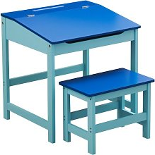 Childrens Desk & Chair Set ~ Blue