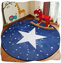 Childrens Kids Rug Round Non-slip Durable Carpet