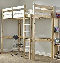 Childrens Pine Bunk Bed - 3ft single work station