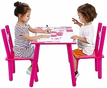 Childrens Wooden Table and Chair Set, Kids Childs