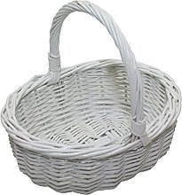 Childs Willow Wicker Oval Shopping Basket –