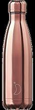 Chilly's - 500ml Chrome - Rose Gold Bottle