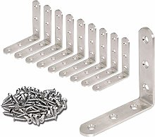 Chiloskit 10pcs 100 x100mm Heavy Duty Stainless
