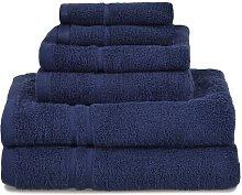 Chilson 6 Piece Towel Set Symple Stuff Colour: Navy