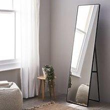 Chiltern Free-Standing Floor Mirror, Black, One Size