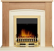 Chilton Fireplace Suite in Oak with Blenheim