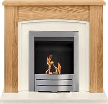 Chilton Fireplace Suite in Oak with Colorado Bio
