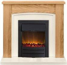 Chilton Fireplace Suite in Oak with Colorado