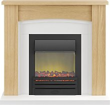 Chilton Fireplace Suite in Oak with Eclipse