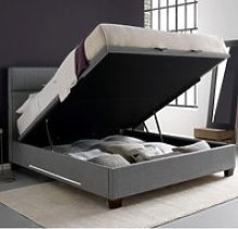 Chilton Grey Fabric Ottoman Storage Bed Frame with