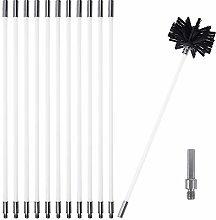Chimney Cleaning Brush Kit, Sweeping Brush Drain