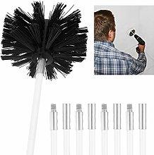 Chimney Flue Cleaning Rod Sweep Sweeping Brush Set
