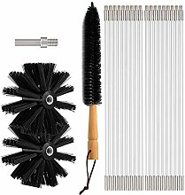 Chimney Sweep Brush, Flexible 18 Rods Dry Duct