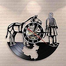 Chinese Emperor Next Life Wall Clock Retro Art