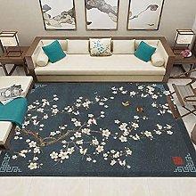 Chinese flower Fluffy Rug for the Bedroom, Living