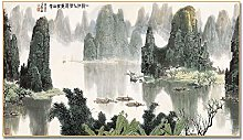 Chinese Oil Painting Scenery Asian Decor Wall