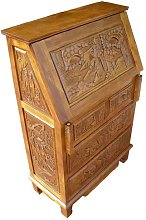 Chinese Oriental Furniture - Handcarved Writing