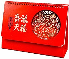 Chinese Picture Calendar 2021 Desk Diary for Lunar
