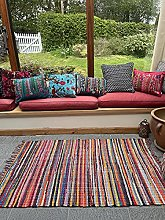 Chingaaree Medium Rag Rug Hand Woven Mat with
